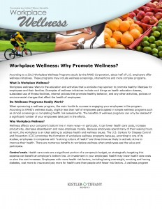 Why Promote Wellness